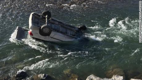 Montana Highway Patrol said the river current prevented the rear hatch of the car from opening.