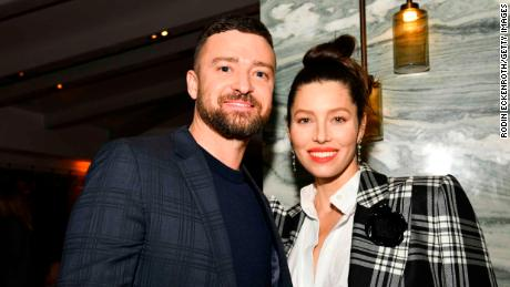 "Justin Timberlake (sinistra) and Jessica Biel (destra) attend the season three premiere of USA Network'S ""The Sinner,"" febbraio 3, 2020, in West Hollywood, California."