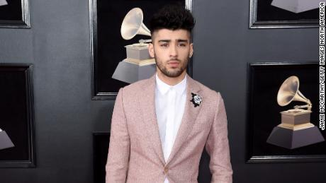 Zayn Malik attends the 60th Annual Grammy Awards at Madison Square Garden on January 28, 2018, in New York City.