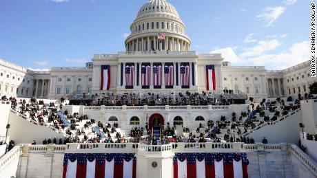 President Joe Biden speaks during the Presidential Inauguration at the U.S. Capitol.