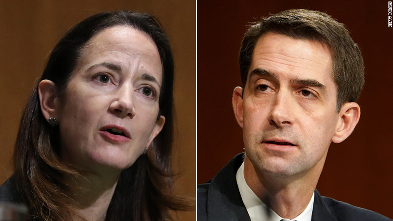 Cotton wants answer from Haines before agreeing to quick confirmation vote