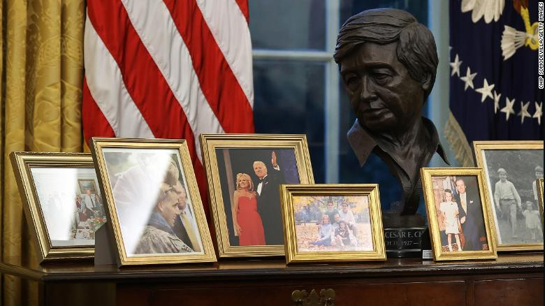 In Biden's Oval Office, Cesar Chavez takes his place among America's heroes