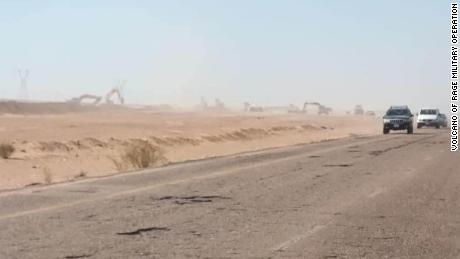 Pictures of the digging of trenches between Sirte and Jufra surfaced in the summer of 2020.
