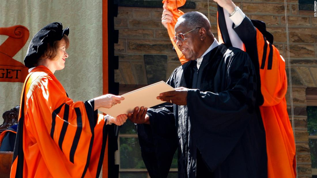 Aaron is awarded an honorary doctorate at Princeton University in 2011.
