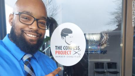Ray Connor, member of the Confess Project Barber Coalition