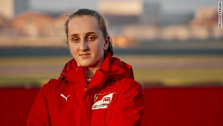 Maya Weug becomes first female driver to earn a spot in the Ferrari Driver Academy