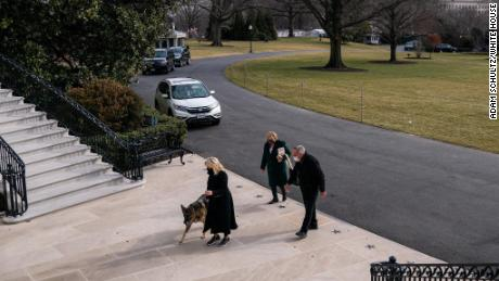 First dogs Champ and Major Biden moved into the White House on Sunday, January 24.