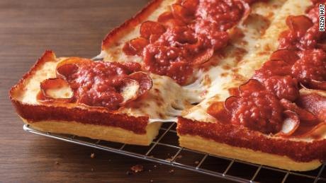 Pizza Hut's new Detroit-style pizza is now available.