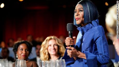 The late Cicely Tyson spoke at the 47th AFI Life Achievement Award gala tribute honoring Denzel Washington in 2019.