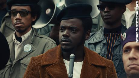 "Daniel Kaluuya is shown in a scene from ""Judas and the Black Messiah."""
