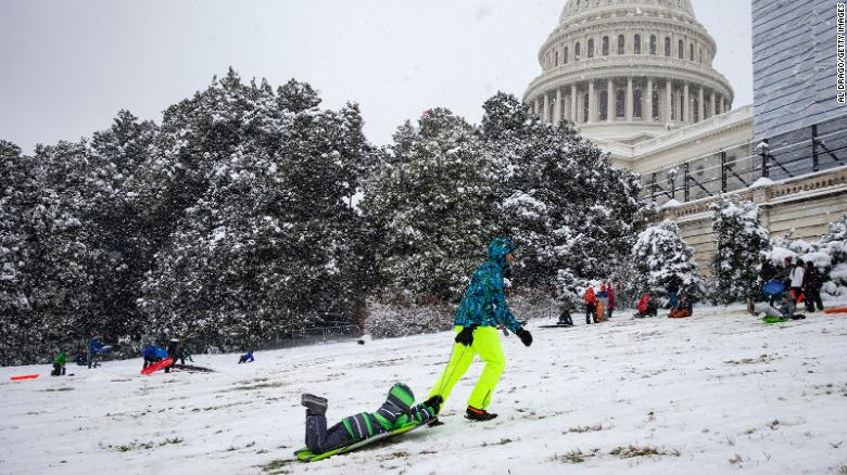 Capitol Police deny request to allow sledding, citing security concerns and Covid-19