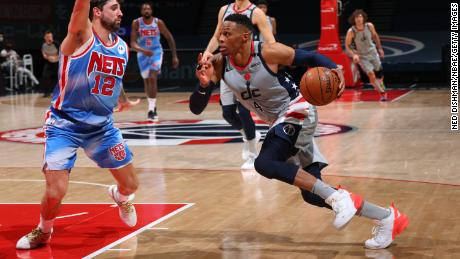 Game winner Russell Westbrook had a season best performance against the Brooklyn Nets.