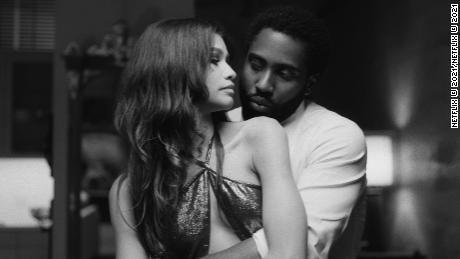 "Zendaya (sinistra) and John David Washington (destra) star in ""Malcolm & Marie."""