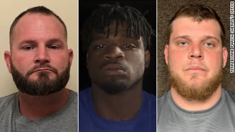 Beaux Cormier, Dalvin Wilson, and Andrew Erskin (left to right) were each charged with two counts of first-degree murder.