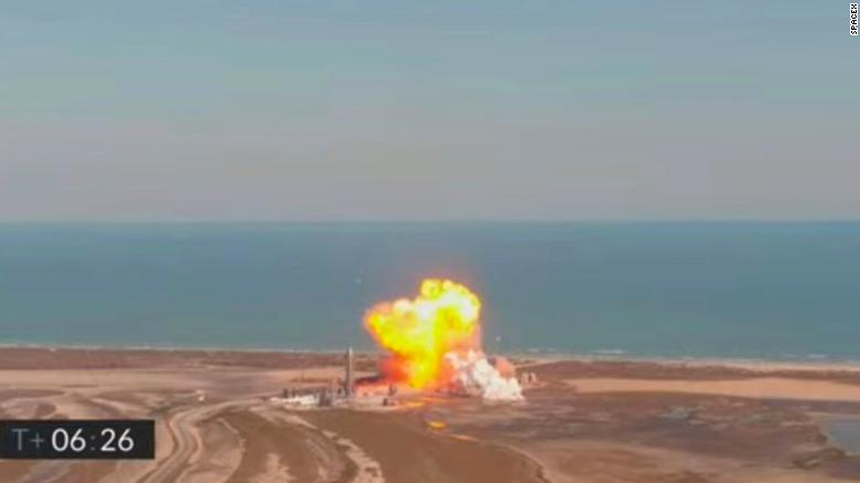 SpaceX prototype rocket explodes on landing in Texas