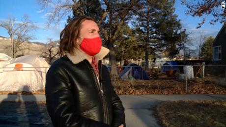 Darin Mann, an activist and homeowner in Salt Lake City, opened his front yard to shelter the homeless. Authorities have given him two weeks to close the camp.