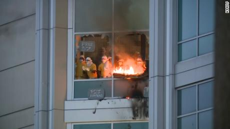Detainees at the City Justice Center in St. Louis set fires and smashed windows after escaping their cells.