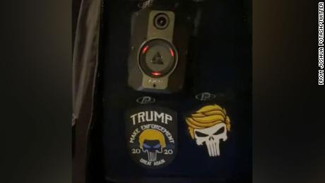 """An NYPD officer seen on social media wearing a pro-Trump patch on their uniform has received """"an initial discipline,"""" NYPD Detective Sophia Mason tells CNN."""
