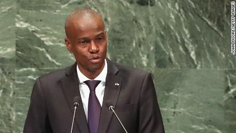 Moise addresses the United Nations General Assembly on September 27, 2018, 뉴욕에서.