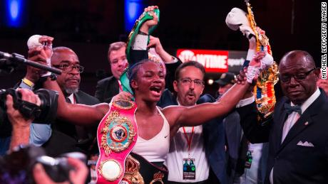 Claressa Shields became the women's undisputed middleweight champion in 2019.