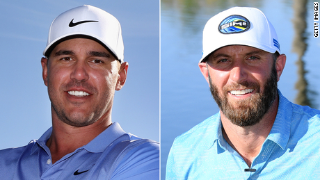 Koepka (left) and Johnson (right).