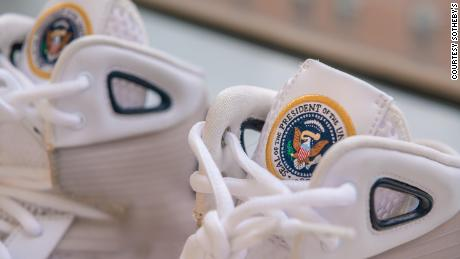 Sneakers designed in honor of Obama to go on sale for $  25,000