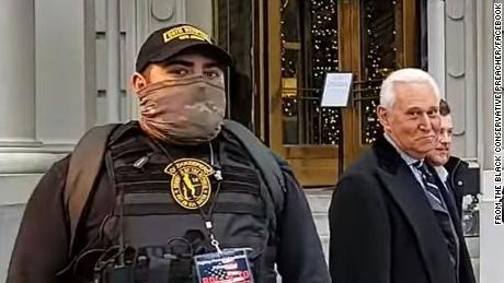 Man in far-right militant group joined Capitol mob after appearing with Trump ally Roger Stone