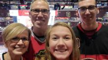 """Alex Kearns, pictured here with his parents and sister Sydney, was described as a """"true goofball"""" with a """"heart of gold."""""""