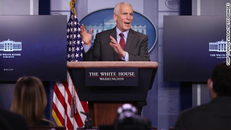 White House Council of Economic Advisors member Jared Bernstein talks to reporters during the daily news conference in the Brady Press Briefing Room at the White House on February 05, 2021 in Washington, DC.