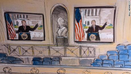 Inside the Senate: Sketches from Day 2 of the impeachment trial