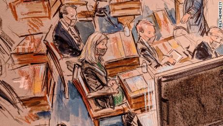 Senators listen during the Senate impeachment trial of former President Donald Trump, on February 10, 2021.