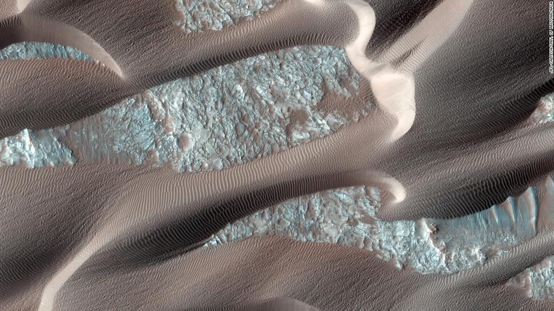 Nili Patera is a region on Mars in which dunes and ripples are moving rapidly. HiRISE, onboard the Mars Reconnaissance Orbiter, continues to monitor this area every couple of months to see changes over seasonal and annual time scales.