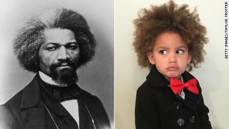 Paisley dressed as iconic abolitionist Frederick Douglass.