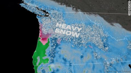 The Northwest could see a year's worth of snow this weekend