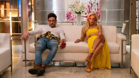 Ed Westwick and Louise Linton in 'Me You Madness'