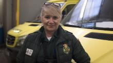 Lynda Stephens, an advanced emergency medical technician with the ambulance service, feared for her teammate Dymott when she was seriously unwell with Covid-19.