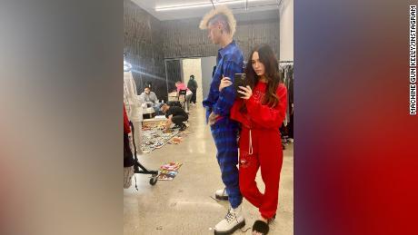Machine Gun Kelly says he wears girlfriend Megan Fox's blood around his neck