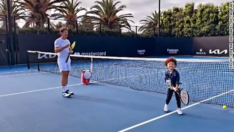 Watch out, Wimbledon! Serena Williams shares video of daughter Olympia training with coach Patrick Mouratoglou