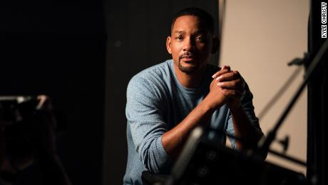 "Will Smith is shown on the set of ""Amend: The Fight for America."""
