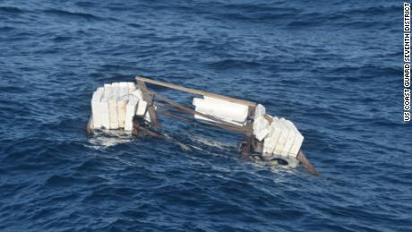"""The US Coast Guard recovered the """"makeshift vessel"""" used by 10 people who went missing south of Key West, Florida."""
