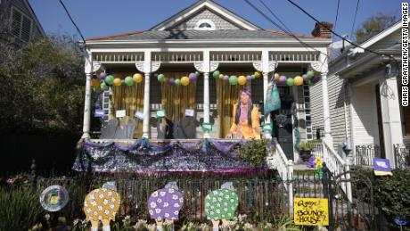 """Yardi Gras&인용; decorations in New Orleans this year."