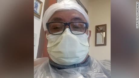Victor Sison, a nurse at Complete Care at Hamilton Plaza in New Jersey, posted photos of himself on Facebook shortly before he died of Covid-19.