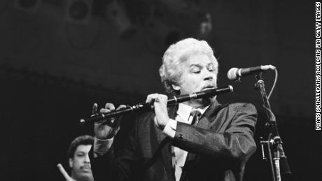 Johnny Pacheco performs at the Paradiso in 1988.