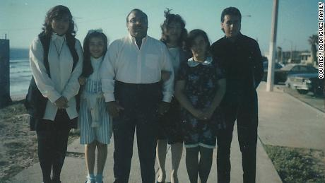 The Rodriguez family always stuck together. Here are all four siblings back in the '90S.