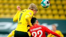 Few defenders can cope with Erling Haaland's size and strength.