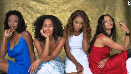 "(From left) Jill Marie Jones, Tracee Ellis Ross, Golden Brooks and Persia White star in ""Girlfriends.&인용;"