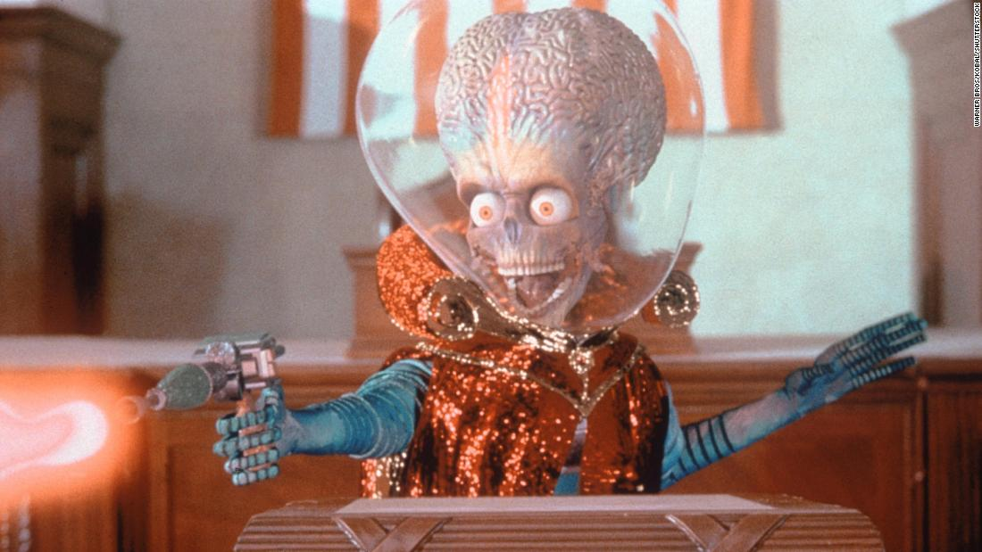 "的 1996 ""Mars Attacks!&报价; movie was directed by Tim Burton."