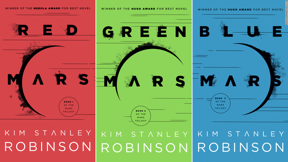 "Kim Stanley Robinson's 1990s ""Mars Trilogy&报价; suggests that we can start to colonize Mars by terraforming and creating an oxygenated atmosphere."