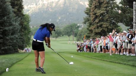 Kang, who was an amateur at the time, hits a tee shot on the first hole during the first round of the 2011 U.S. Women's Open.