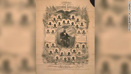 1868 루이지애나 - African Americans participated in Constitutional Conventions like this across the South where delegates argued over Union demands, drew up new laws and elected new leadership.